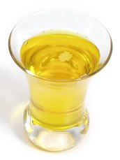 Olive oil in a cup