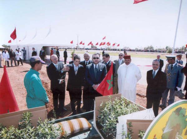 inauguration oliveraie par Sa Majesté le Roi Mohammed VI