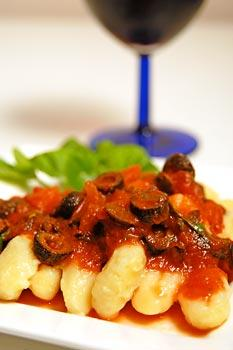Gnocchi with Tomato, Basil and Olives